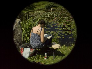 Devant l'étang