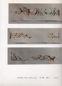 fragments de peintures murales, faux marbres