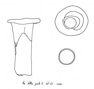 Col de vase en verre
