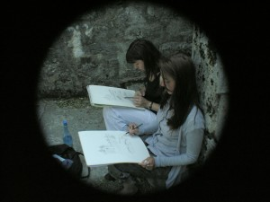 Florence et Marie-Victorine au travail
