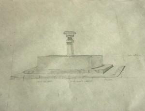 dessin de la fontaine à la mine graphite