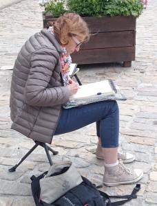 Anne très concentrée...