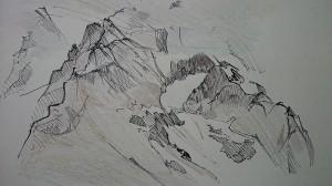Vue depuis le jardin alpin