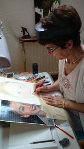 Anne-Marie G au travail