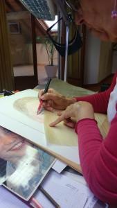 travail du crayon de couleur
