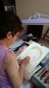 Anne-Marie au travail