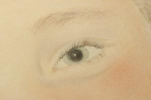 Détail de l'œil gauche