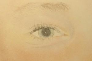 Détail de l'œil droit
