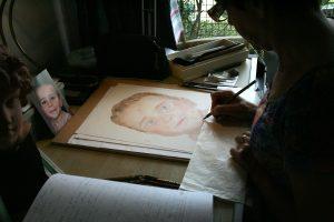 portrait de Maxence en cours
