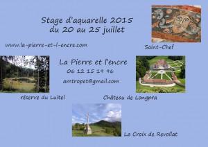 stage d'aquarelle de juillet 2015