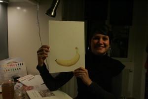 Une banane son premier travail