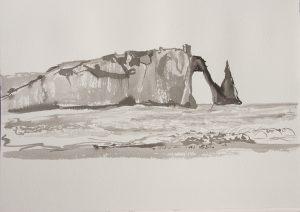 La falaise à Etretat
