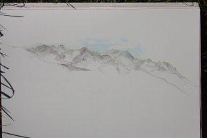 La montagne au-dessus de Theys